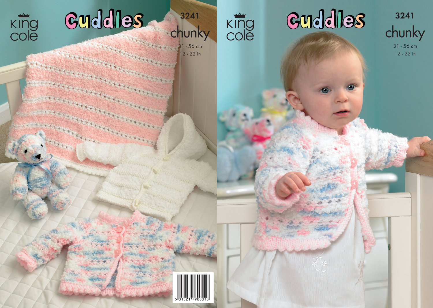 King Cole Cuddles Chunky Knitting Pattern Kids Knitted Pram Cover & Jacke...