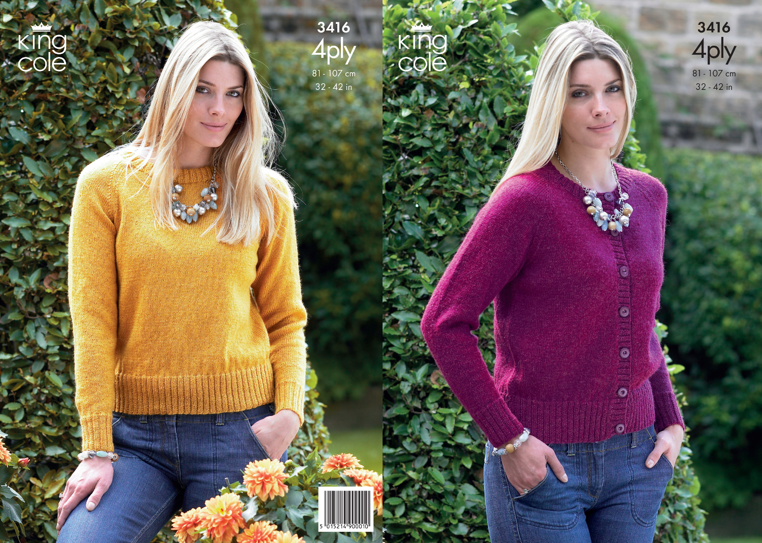 4 Ply Knitting Patterns Free Ladies : King Cole 4Ply Knitting Pattern Ladies Knitted Cardigan Sweater Womens Knit 3...