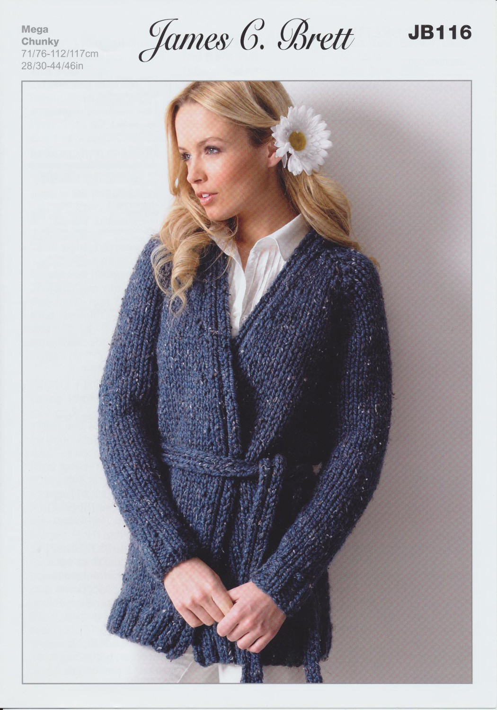 Mega Chunky Knitting Pattern Womens Wrap Around Long ...