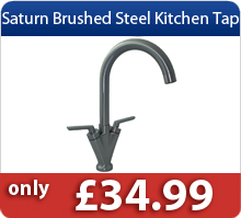 Saturn Brushed Steel Kitchen Tap