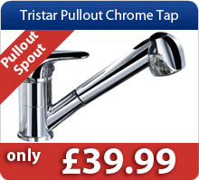 Tristar Pullout Chrome Kitchen Taps