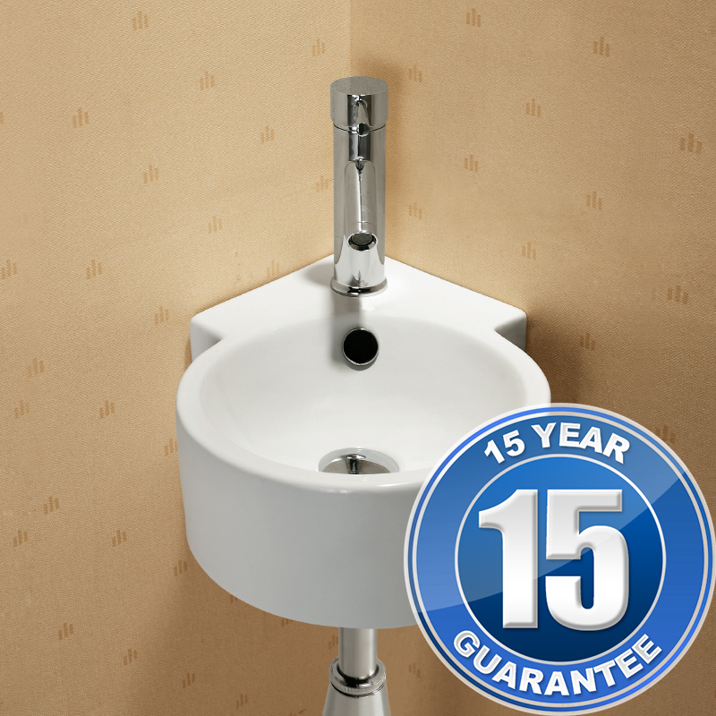 ... Contemporary Ceramic Bathroom Wall Hung Corner Basin Sink 4296 eBay
