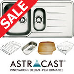 View Item Astracast Topaz 1.5 Bowl Polished Stainless Steel Kitchen Sink & Acc