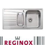 View Item Reginox Commodore 1.5 Bowl Polished Stainless Steel Integrated Kitchen Sink RF33