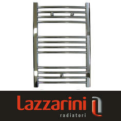 View Item Lazzarini Straight Contemporary Chrome Heated Towel Rail Radiator 760x500