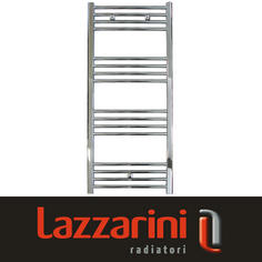 View Item Lazzarini Straight Contemporary Chrome Heated Towel Rail Radiator 1150x500