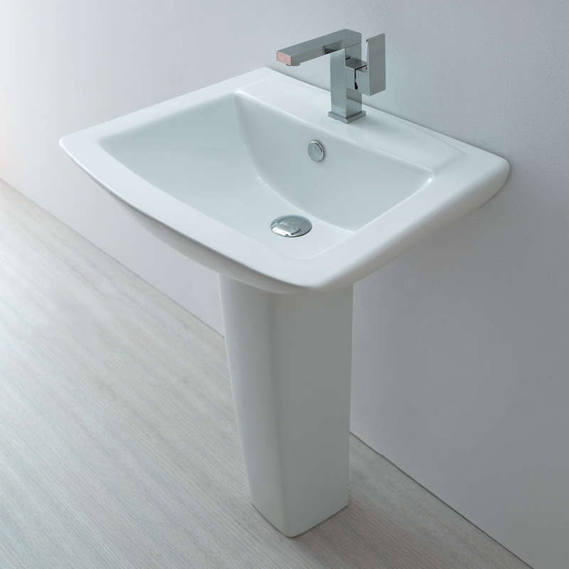 Europa st moritz 1th contemporary ceramic bathroom basin pedestal sink 3032 ebay - Designer bathroom sinks basins ...