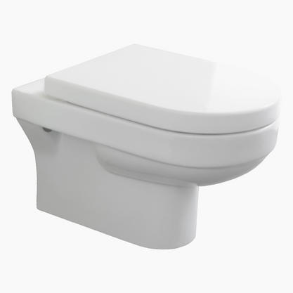 Europa Santa Monica Wall Hung Toilet Pan & Soft Close Toilet Seat 2040