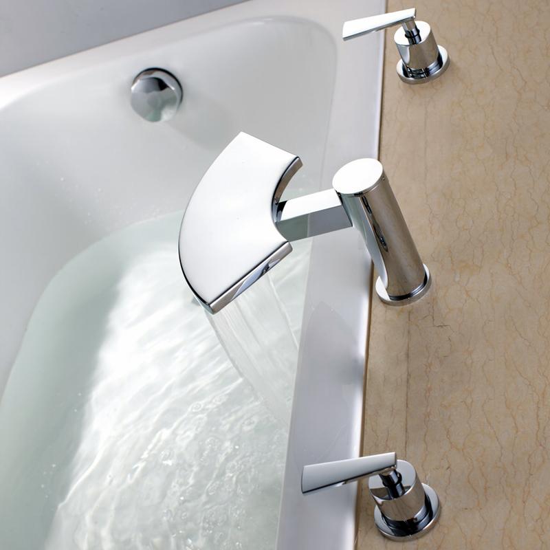 taps uk blade waterfall bathroom basin sink mixer tap b6005