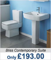 Bliss Contemporary Bathroom Suite