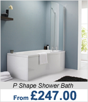 P Shape Shower Bath