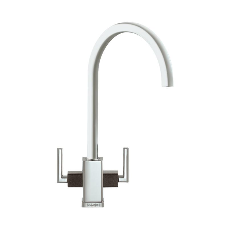 Black Kitchen Sink Taps Uk: Franke Mythos MTG Chrome & Onyx Black Kitchen Sink Mixer