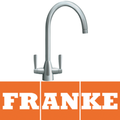 View Item Franke Eiger Silk Steel Twin Lever Swivel Spout Kitchen Sink Mixer Tap