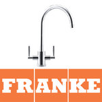 View Item Franke Olympus Chrome Twin Lever Kitchen Sink Mixer Tap