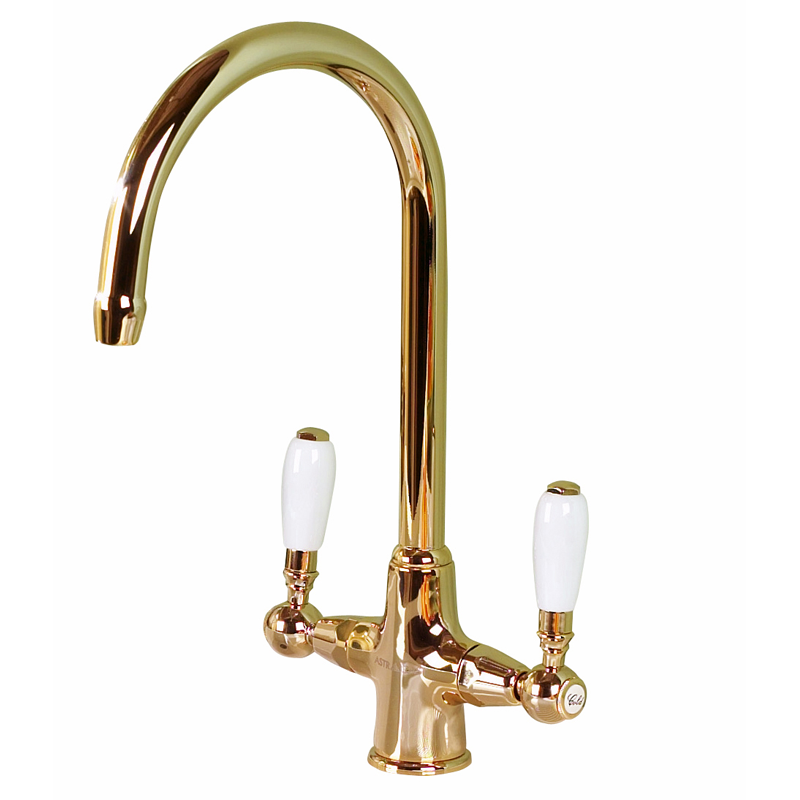 Astracast Colonial English Gold Kitchen Sink Mixer Tap