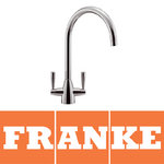 View Item Franke Eiger Chrome Twin Lever Swivel Spout Kitchen Sink Mixer Tap