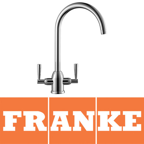 View Item Franke Basel Silk Steel Kitchen Sink Mixer Tap