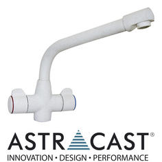 View Item Astracast Targa Opal White Kitchen Sink Mixer Tap TP0333