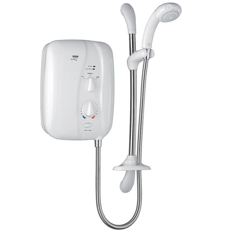View Item Mira Elite ST 10.8KW Electric Shower White &amp; Chrome