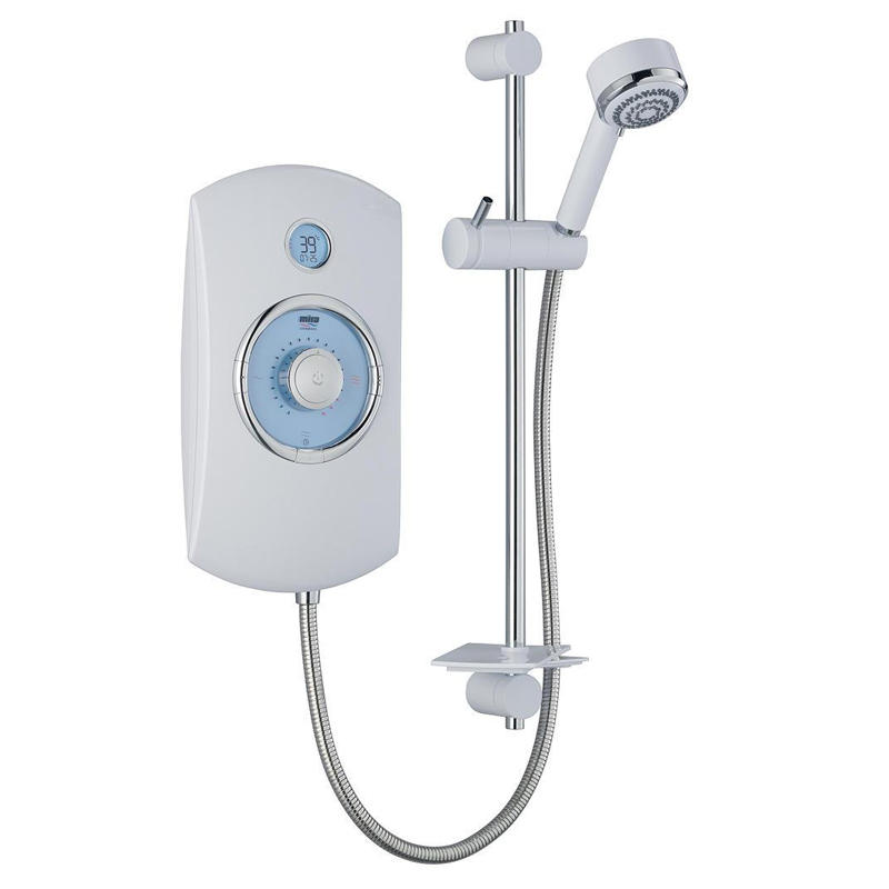 View Item Mira Orbis 9.8KW Thermostatic Electric Shower White &amp; Chrome