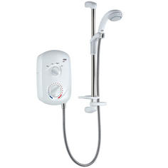 View Item Mira Zest 7.5KW Electric Shower White &amp; Chrome