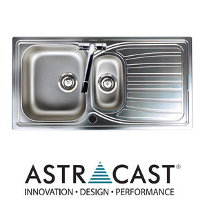 Astracast Alto 1.5 Bowl Brushed Stainless Steel Kitchen Sink & Waste Preview