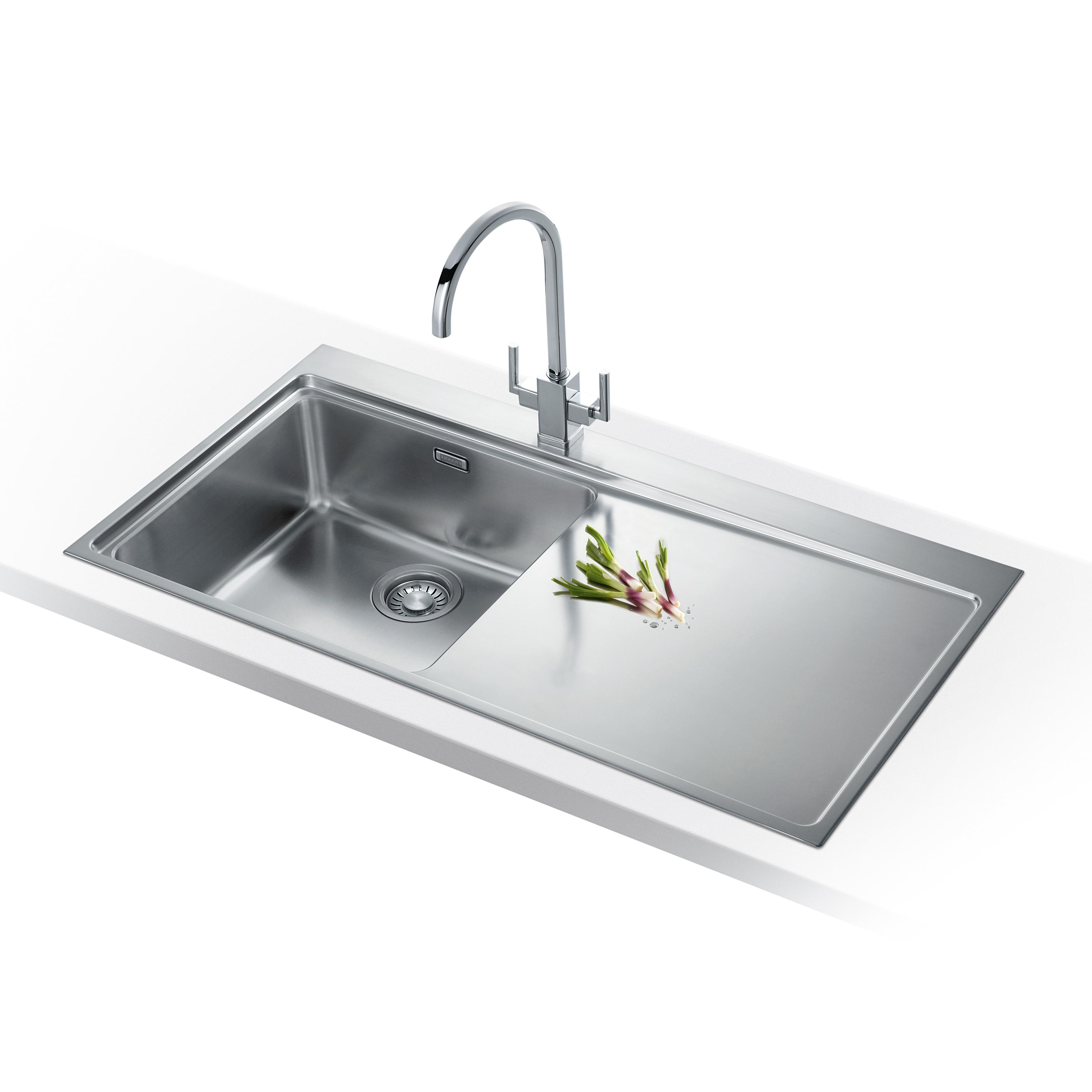 franke mythos 1 0 bowl silk stainless steel kitchen sink. Black Bedroom Furniture Sets. Home Design Ideas