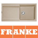 View Item Franke Maris 1.0 Bowl Granite Coffee Beige Kitchen Sink & Waste MRG611