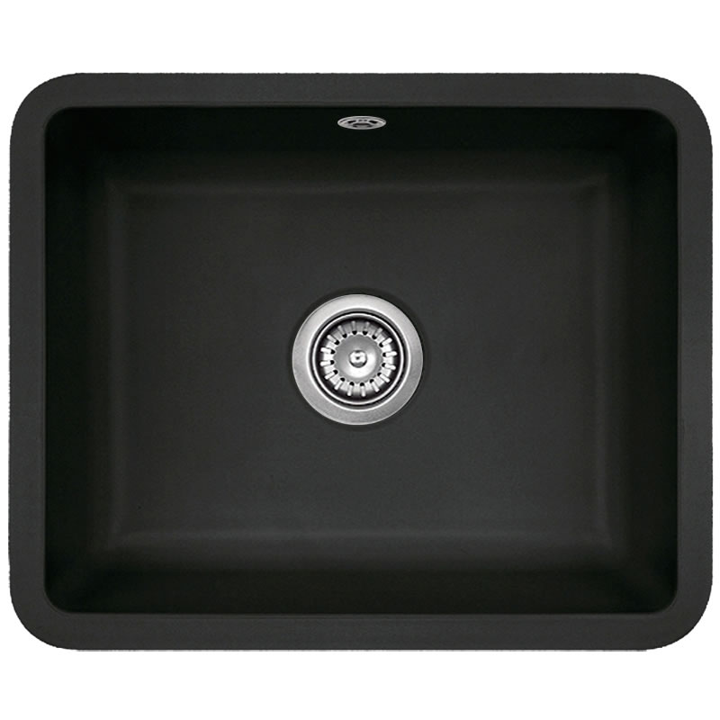 Astracast vero 1 0 bowl large black ceramic undermount - Undermount ceramic kitchen sink ...