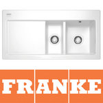 View Item Franke Mythos 1.5 Bowl Gloss White Ceramic Kitchen Sink & Waste MTK651 LHD