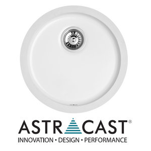 Astracast Lincoln Round White Ceramic Undermount Kitchen Sink Drainer &amp; Waste Preview
