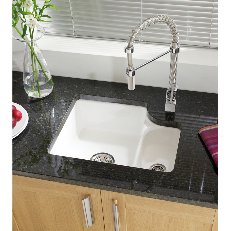 Astracast lincoln 1 5 bowl white ceramic undermount - Undermount ceramic kitchen sink ...