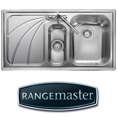 View Item Rangemaster Chicago 1.5 Bowl Brushed Stainless Steel Kitchen Sink LH CG9852L