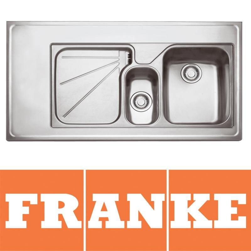 View Item Franke Ariane 1.5 Bowl Silk Stainless Steel Kitchen Sink & Waste LHD ARX754 1200