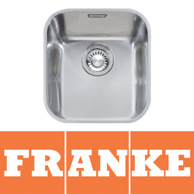 View Item Franke Ariane 1.0 Bowl Silk Stainless Steel Undermount Kitchen Sink ARX110 35