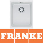 View Item Franke Kubus 1.0 Bowl Granite Polar White Undermount Kitchen Sink KBG110 34