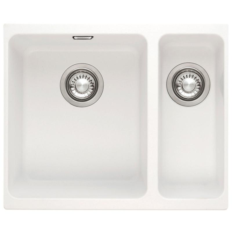 Ebay Franke Sink : Franke Kubus 1.5 Bowl Granite Polar White Undermount Kitchen Sink ...