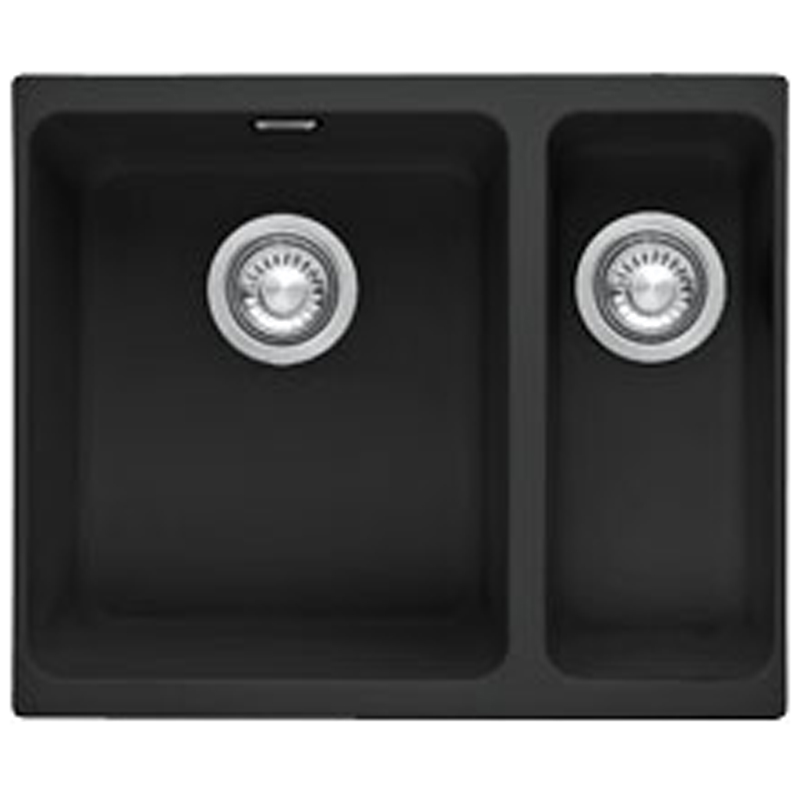 Franke Kubus 1 5 Bowl Granite Onyx Black Undermount Kitchen Sink Kbg160 Ebay