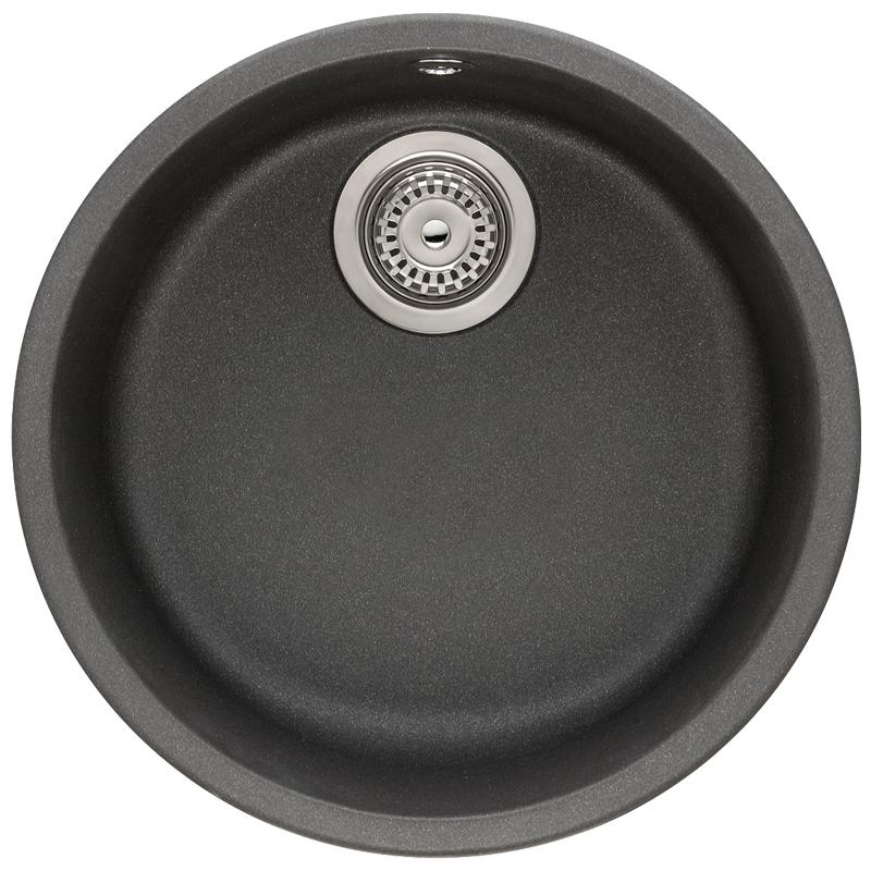 Franke Black Undermount Sink : Franke Rotondo 1.0 Bowl Granite Graphite Black Undermount Kitchen Sink ...