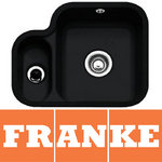 View Item Franke by V&B 1.5 Bowl Black Ceramic Undermount Kitchen Sink & Waste VBK160