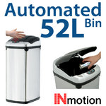 View Item 52L Stainless Steel Auto Sensor Kitchen Waste Dust Bin