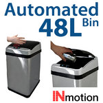 View Item 48L Stainless Steel Auto Sensor Kitchen Waste Dust Bin