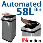 View Item 58L Stainless Steel Auto Sensor Kitchen Waste Dust Bin