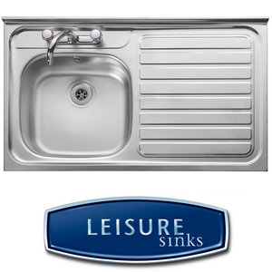Leisure Contract 1.0 Bowl Polished Stainless Steel Kitchen Sink RHD LC106R Preview