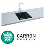 View Item Carron Phoenix Fiji 90 1.0 Bowl Granite Jet Black Undermount Kitchen Sink