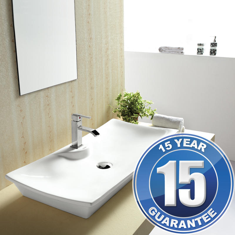 View Item Europa Aspecto 1TH Contemporary Ceramic Counter Top Bathroom Basin Sink 4277A