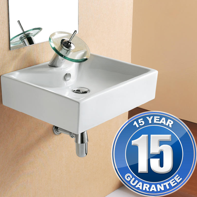 View Item Europa Crave 1TH Contemporary Ceramic Bathroom Cloakroom Basin Sink 4339