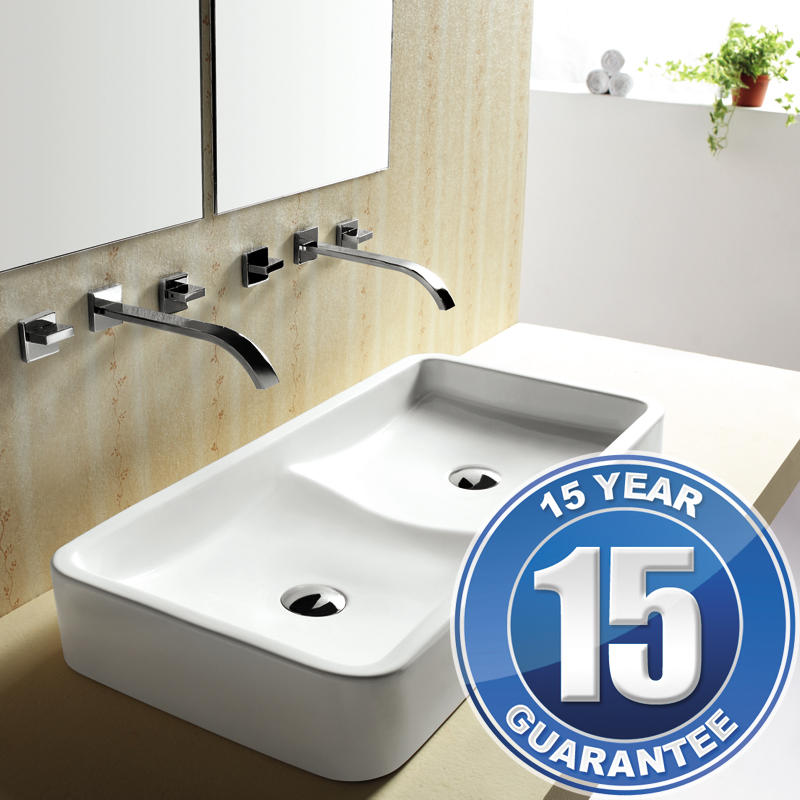 View Item Europa Rosa Contemporary Ceramic Counter Top Bathroom Basin Sink 4402