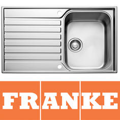 View Item Franke Ascona 1.0 Bowl Silk Stainless Steel Kitchen Sink &amp; Waste ASX611