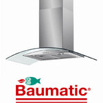 View Item Baumatic BWT9.3GL 90cm Stainless Steel Glass Cooker Hood